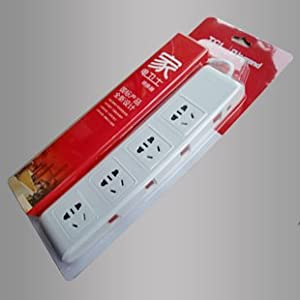tcl 罗格朗 新款电源接线板插线板 四位一控一带过载保护转换器白色