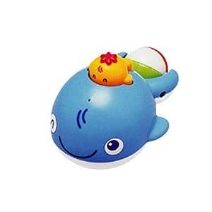 皇室洗澡玩具 小鲸鱼 按下会喷水 tr7175 游泳玩具 戏水玩具