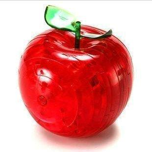 HABIBI 不带灯光苹果3D创意立体水晶拼图 拆装水果 拆装玩具 (红)-图片