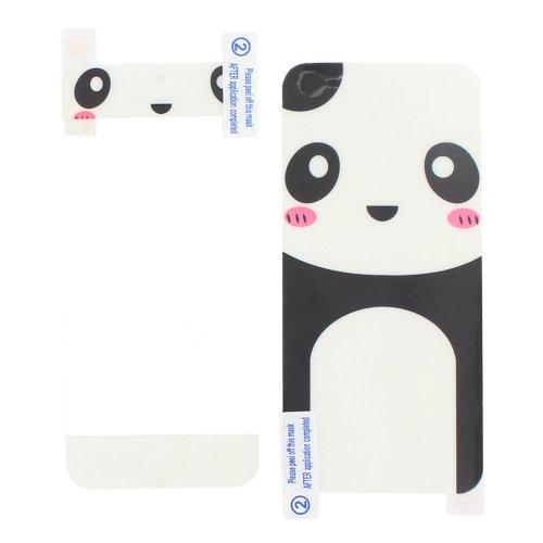 斯克尤 全新苹果iphone 5前后盖贴膜 全身保护膜 (可爱小熊猫图案)