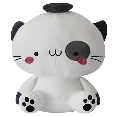 可兰薇 可爱猫咪公仔 大脸猫毛绒玩具 招财猫布娃娃klw1015 (40cm, 米