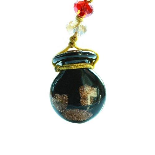 王廷珠宝 星座琉璃手机链 黑闪-极致诱惑-图片
