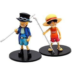 甜蜜城堡 动漫模型 航海王海贼王手办公仔童年版DX 路飞 萨波 精美盒装