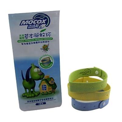 迈洁斯mocox迈洁斯天然植物草本驱蚊手环2包装 (3条装