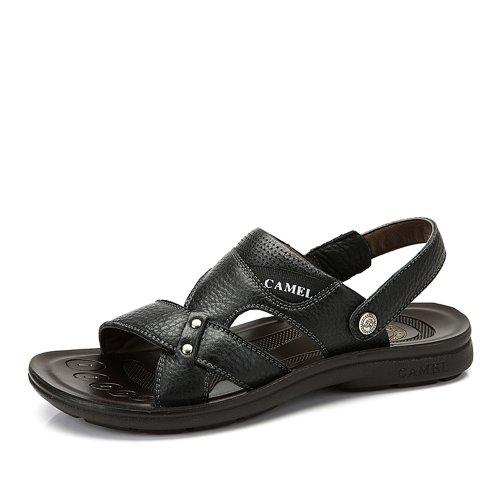 Camel 骆驼 男鞋凉鞋 日常休闲春季新款鞋子 露趾套筒透气沙滩鞋A422211008