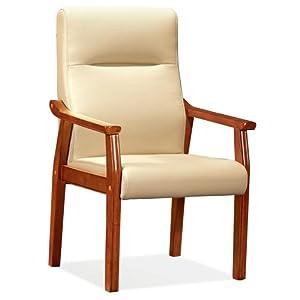 【乔志】皮面实木会议椅子办公椅子固定四脚椅会客椅班前椅qz-315