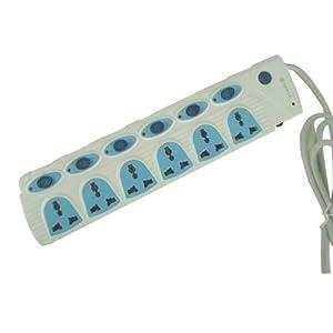 欧普接线板 拖线板插座pc-jm-1a6d-a02p 带过载保护 带分开关六位多