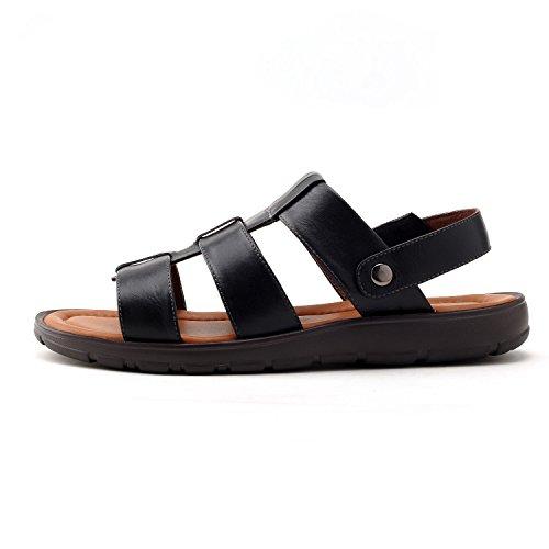 GERTOP 德意志山峰 男鞋 夏季真皮透气沙滩鞋男休闲凉鞋 S4338012