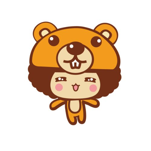 ky 卡艺 汽车贴纸 mocmoc 摩丝娃娃小熊帽子笑脸 汽车划痕贴 搞笑可爱