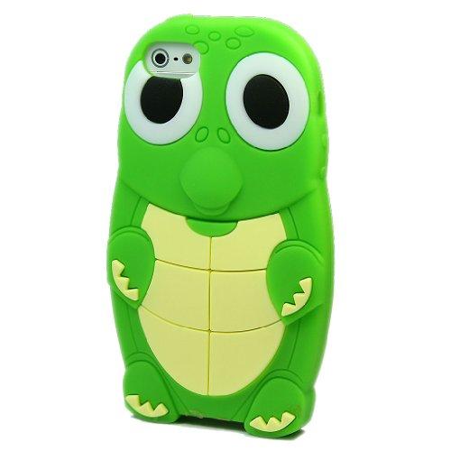 爱文卡仕 苹果 iphone 5 5g 手机壳 手机套 硅胶 海龟 绿色   屏保