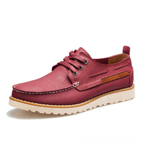 Mrcamel 骆驼 时尚杂志款品质 意式英伦风格男士 休闲鞋 帆船鞋 板鞋 真皮舒适柔软透气 商务流行 皮鞋 个性 男鞋