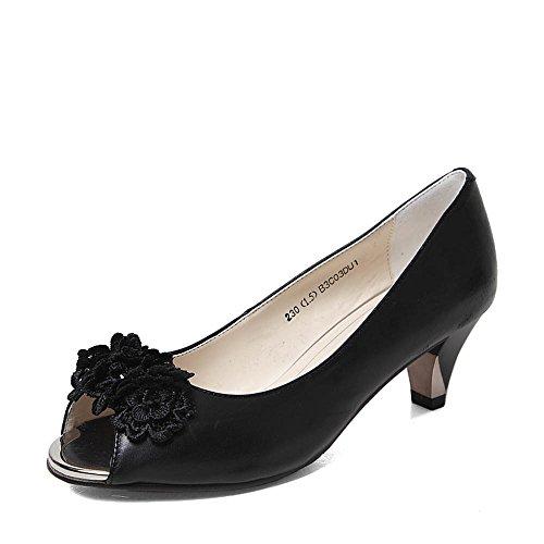 SENDA/森达浅粉红磨砂牛皮9015LBL4女皮凉鞋夏季舒适坡跟时尚休闲女鞋