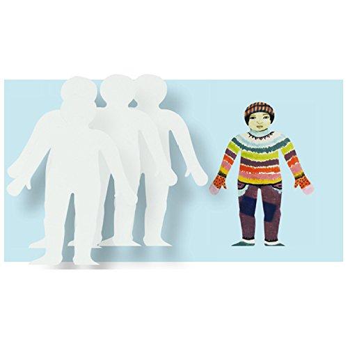 玩具 幼儿园 diy 美术 手工 绘画 材料 用品 创意 白版 制作 填色小人