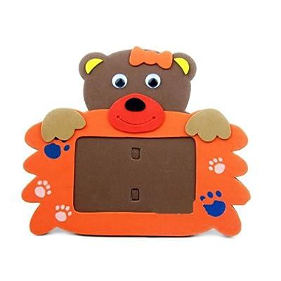 手工动物相框手工拼装粘贴画立体贴画玩具生日礼物简单有趣的diy玩具