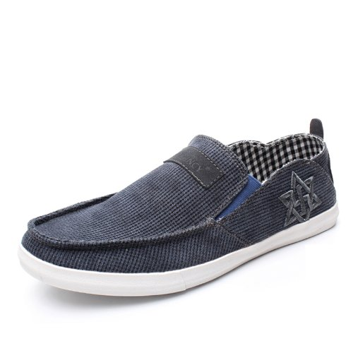 NORVINCY 诺凡希 男士帆布鞋 男鞋子 透气鞋 单鞋 英伦风潮流韩版 NVC12118 3.28