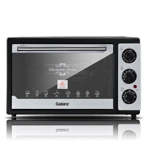 Galanz/格兰仕电烤箱KWS1525X-F2R(25L黄金容量,高档不锈钢把手,360°旋转烧烤,上下独立加热,多层烤位随意搭配,环保不沾油内胆)-图片