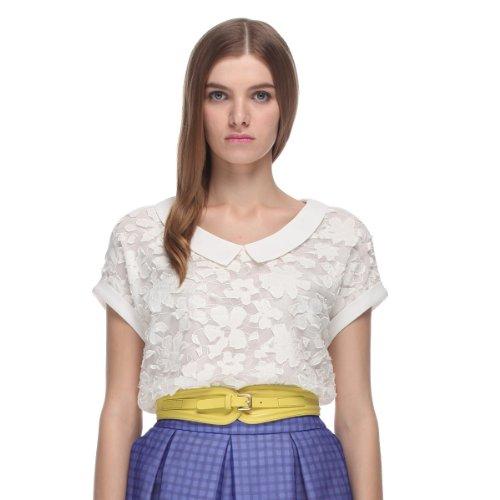 Five Plus 女式 雪纺绣花短袖衬衫 213201462001