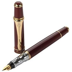公爵duke高级钢笔 至尊红色铱金笔 亚马逊 办公用品