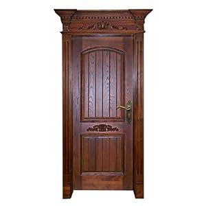 套装门豪迈豪华系列 实木雕刻 欧式门眉小压线贴花sma