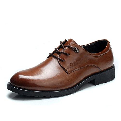 MULINSEN 木林森 春季男士皮鞋商务正装皮鞋英伦真皮头层皮舒适男鞋子韩版潮流鞋子2060