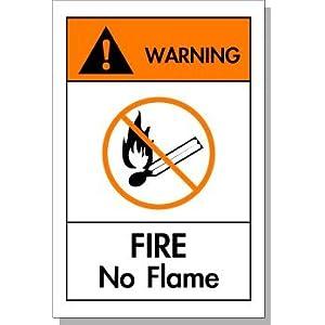 25个装当心火灾 英文安全标志