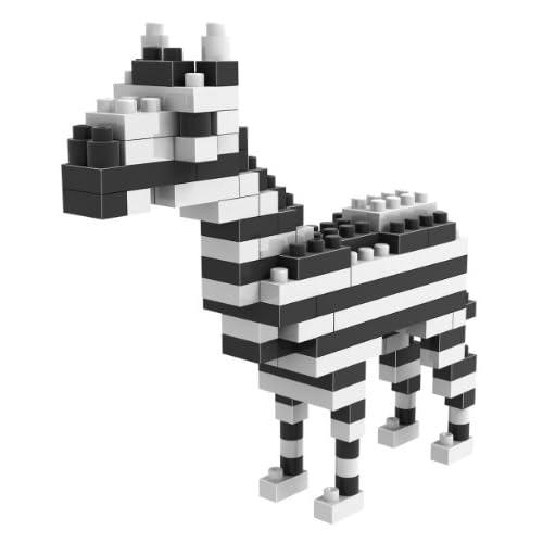 loz 俐智 德国 创意拼装 乐高式钻石颗粒积木 动物公仔系列 斑马 9316