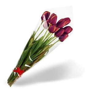 高档郁金香花束小黑人(紫色)(9枝)(郁金香