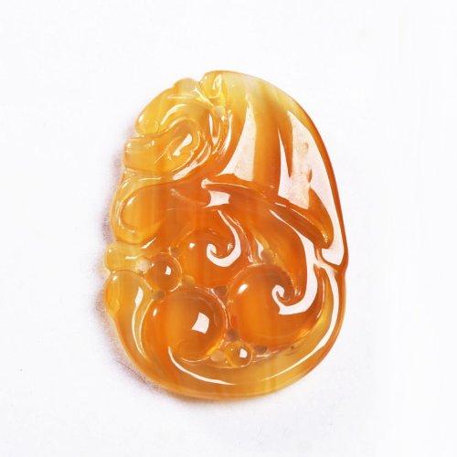 晶隆福 天然俏玛瑙雕件 晶体通透 色泽迷人 辟邪护身【103125】-图片