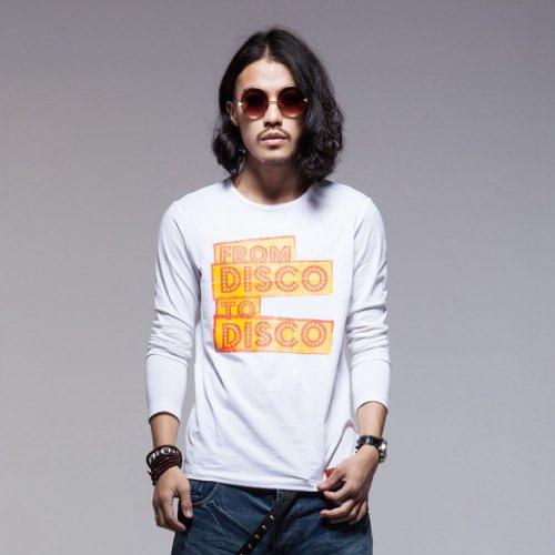 BALCONY 巴戈纽 男装长袖T恤 圆领原创设计潮男TXU 时尚潮牌英文字母图案