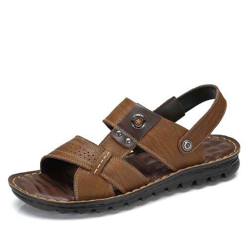 Camel 骆驼牌 正品 2014夏季男士凉鞋 真皮休闲男士透气凉鞋 新款潮鞋 W422287003