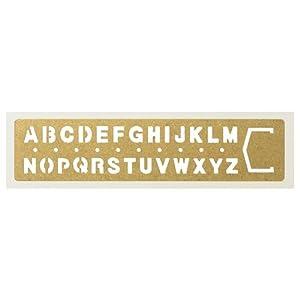 Midori Brass Number Clips黄铜复古字母涂鸦模版式书签