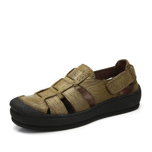 Camel 骆驼 男鞋凉鞋魔术贴扣带牛皮凉鞋 春季新品日常休闲舒适沙滩鞋A422147002