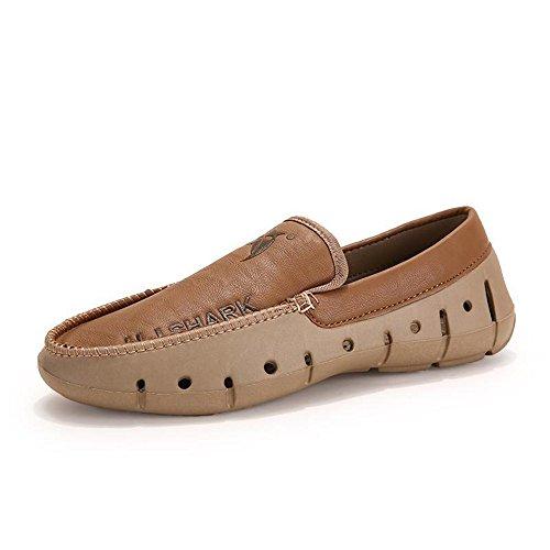 时尚 潮流休闲男鞋男士低帮透气洞洞鞋时尚驾车鞋豆豆鞋