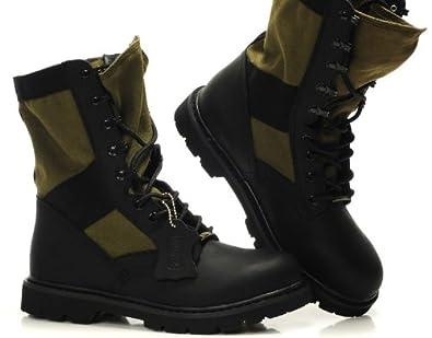z.suo 走索 酷男必备时尚男靴 美军陆战队军靴战地靴 全牛皮骑士靴 军靴工装靴 真皮靴系带靴 沙漠靴