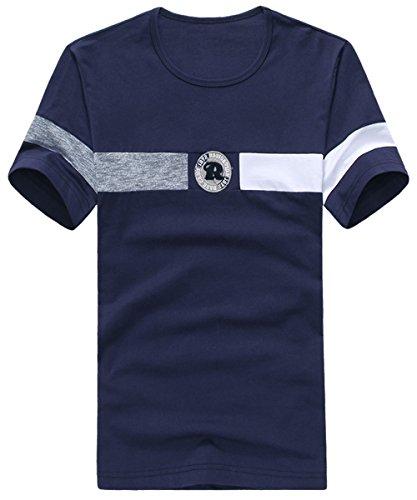 UYUK短袖T恤男 2015夏季新款纯棉圆领打底衫修身时尚潮男装短袖青年T恤t735