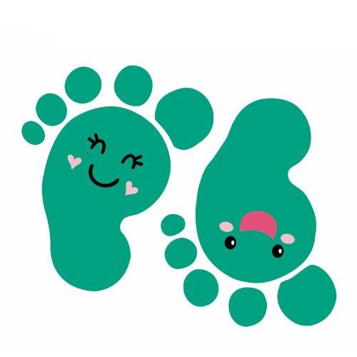韩国进口 儿童房装饰墙贴 卡通创意墙纸 浴室地板瓷砖贴 可爱脚丫图片