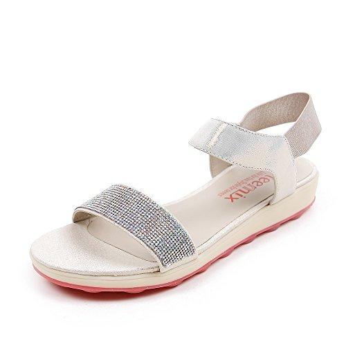 Teenmix 天美意 天美意夏季专柜同款山羊皮女凉鞋专柜 6AF53BL5