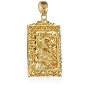 翠綠首飾千足黃金吊墜-飛龍在天 8.62克