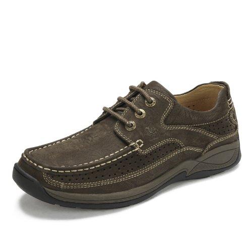 Camel 骆驼 男士休闲鞋子 透气鞋夏季舒适 日常休闲男鞋真皮 2066056