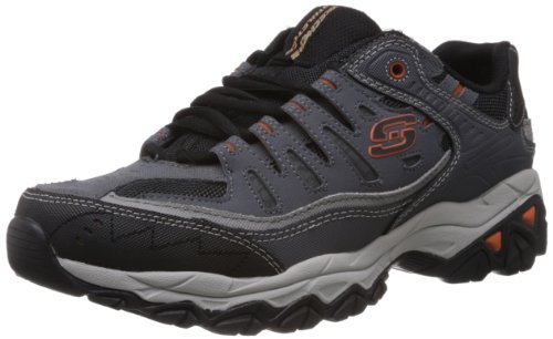 Skechers男士  Afterburn M. Fit  系带 charcoal/gray 14 4E US