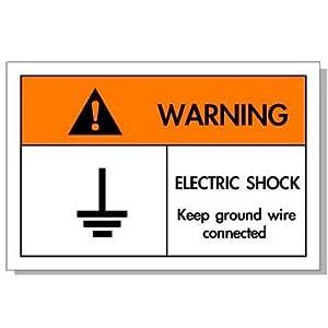 50个装安全标识牌 安全标识贴纸 警示标识 当心触电pp国际标识EA M图片