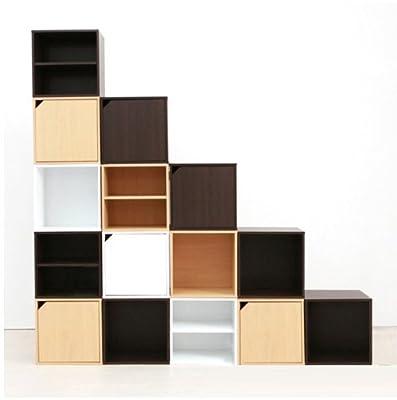 唯有唯美 板式日式环保简单方块组合格子门柜多功能储
