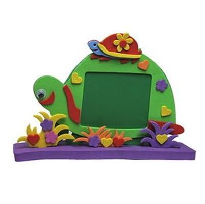 eva手工制作 立体动物相框 儿童diy创意手工粘贴相框画diy手工 乌龟