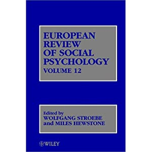 european review of social psychology vol. 12