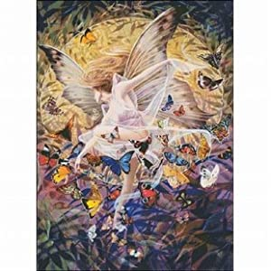 dmc 多美绣 十字绣客厅大画卧室系列欧式人物油画蝴蝶