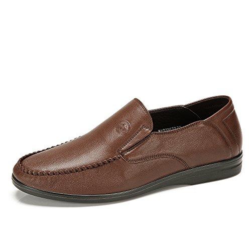 骆驼牌 新款秋冬男鞋 真皮男士日常休闲皮鞋套脚W432287020