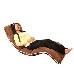 FULLLOVE 时尚躺椅 高档休闲折叠椅 午休椅 懒人必备 175cm*56cm*15cm 咖啡色