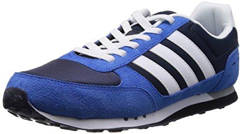 Adidas NEO 阿迪达斯运动生活 RUNNING 男 休闲跑步鞋 NEO CITY RACER F38451 新海军蓝 FTW/FTWR 白/蓝 40 (UK 7)