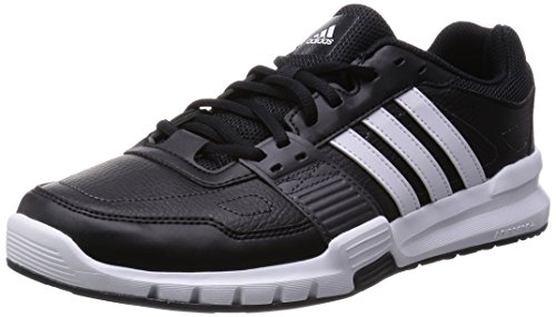 adidas 阿迪达斯 POWER 男 综合训练鞋Essential Star .2 B33187 黑/白/DGH 纯质灰 42.5 (UK 8-)