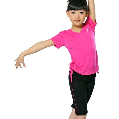 儿童舞蹈衣批发女童民族舞短袖短裤套装幼儿